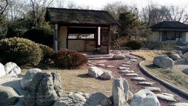 Природный камень в японском саду