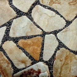 Песчаник коричневый галтованный