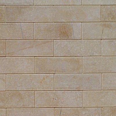 Плитка из известняка желтого 6-и сторонняя